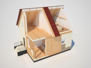 Схема дома из СИП панелей