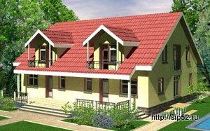 двухквартирный дом из СИП панелей