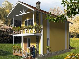 дом из СИП панелей, 300