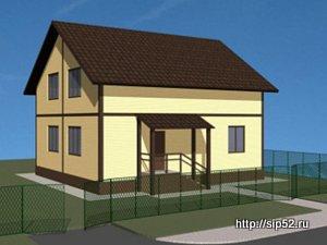 проект двухэтажного дома из СИП панелей 160 м2 СИП8, 300