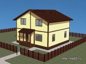 проект дома из СИП панелей 134,5 м2 СИП13, 300