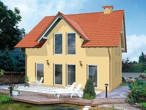 проект дома из СИП панелей, 300