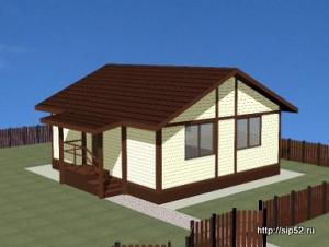 проект дома из СИП панелей 40 м2 СИП3, 300