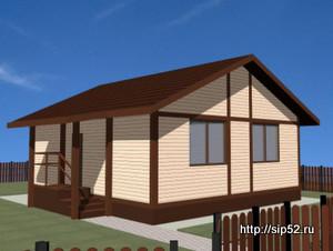 проект дома из СИП панелей 61 м2 СИП4, 300