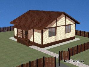 проект дома из СИП панелей 70,7 м2 СИП11, 300