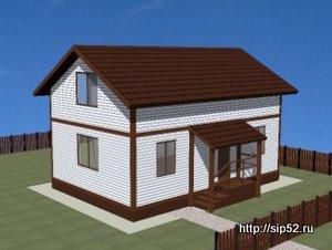 проект дома из СИП панелей 90 м2 СИП9, 300