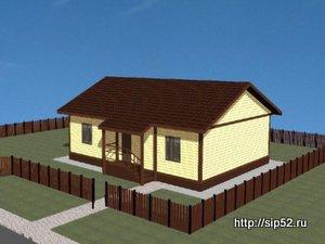 проект дома из СИП панелей 90,8 м2 СИП12, 300