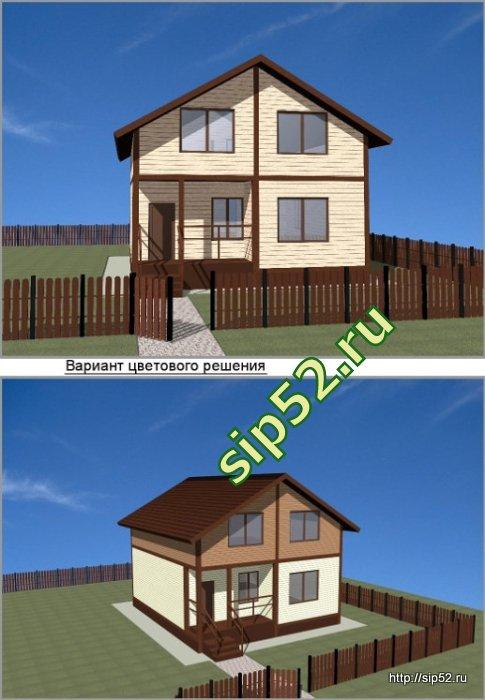 проект дома из СИП панелей 94 м2 СИП5, эскизы
