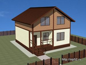 проект дома из СИП панелей 94 м2 СИП5, 300