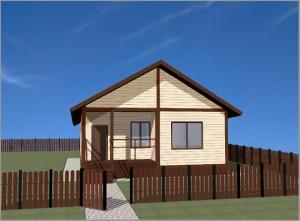проект дома из СИП панелей площадью 72 м2 СИП1, эскиз