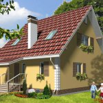 проект одноэтажного дома с мансардой из СИП панелей, 1