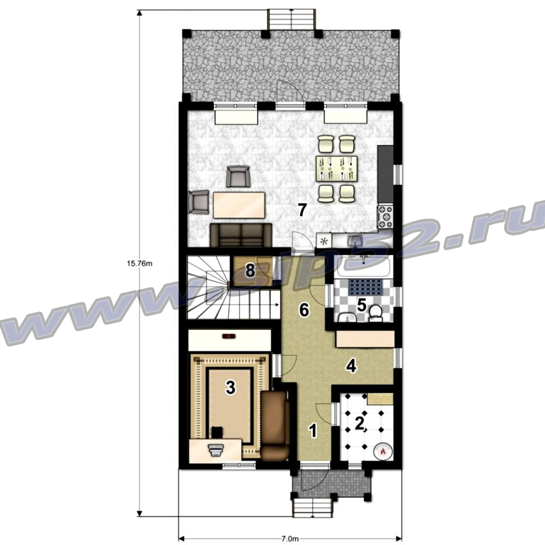проекты узких двухэтажных домов 5х10